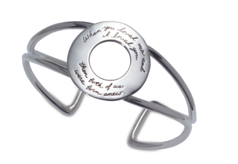 "Sterling Silver ""Born Anew"" Round See-Thru Cuff"