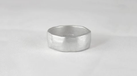 Sterling Silver Organic Round Ring