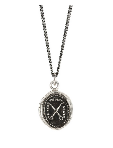 Sterling Silver We Part To Meet Again Talisman Necklace