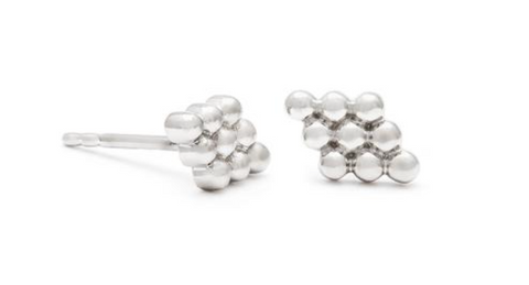 Florence - Sterling Silver Stud Earrings