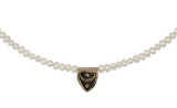 14K Gold Freshwater Pearl Truth & Enlightenment Talisman Choker Necklace