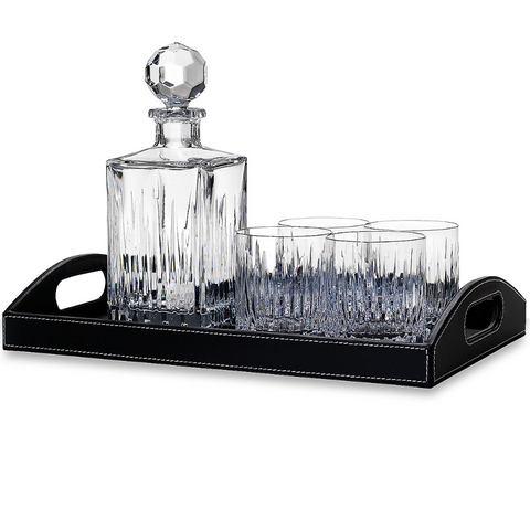 Soho Crystal Decanter & Tray With Glass Set