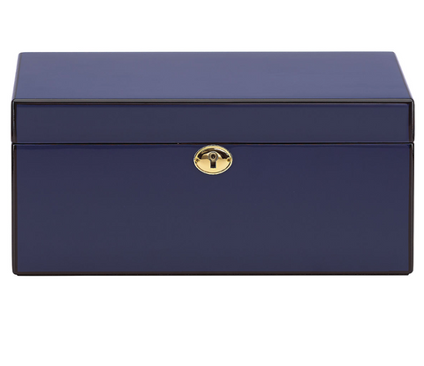 Modern Lines Navy Jewelry Box
