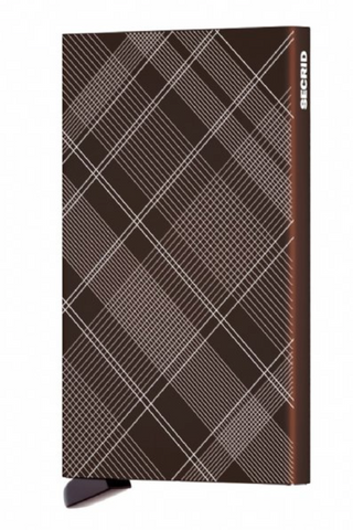 Laser Tartan Brown Card Protector