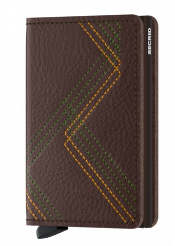 Stitch Linea Espresso Slim Wallet