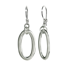 Sterling Silver Ovalette Earrings
