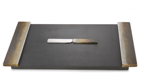Torched Cheese Board With Knife