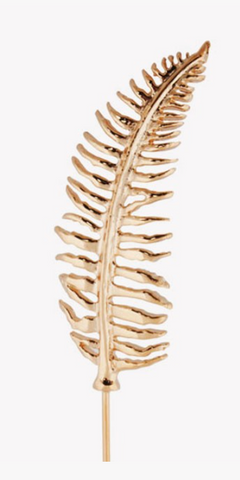 Pink Gold Plated Fern Lapel pin
