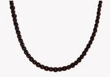 Stainless Steel, Black Laquer With Brown Thread Catena Weave Necklace