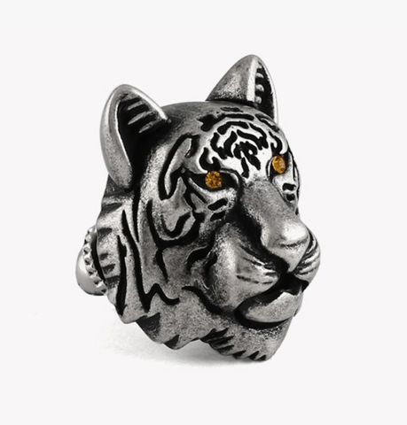 Sterling Silver Tiger Lapel Pin