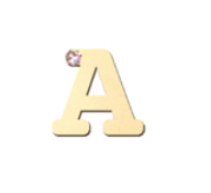 "14K Gold & 1 Diamond, Typewriter Initial ""A"" Single Stud"