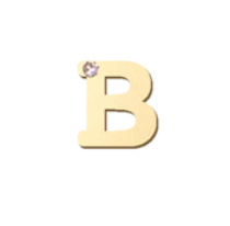 "14K Gold & 1 Diamond, Typewriter Initial ""B"" Single Stud"