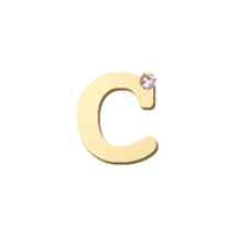 "14K Gold & 1 Diamond, Typewriter Initial ""C"" Necklace"