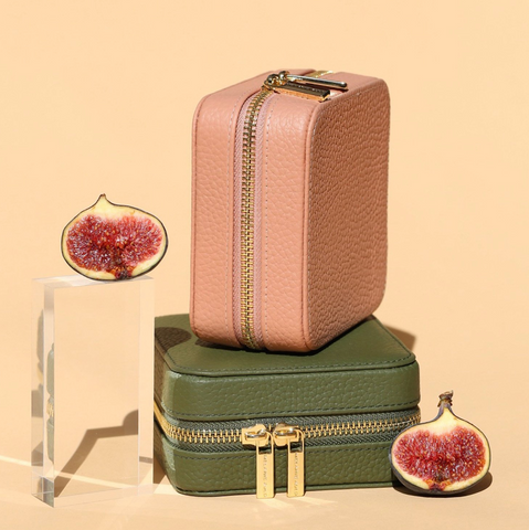 Leather Fig Travel Case