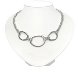 Sterling Silver Trio Circlet Gravelle Necklace