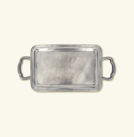 Lago Rectangular Tray w/ Handles, Small