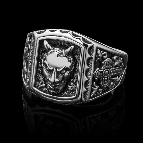 Tarnation - Stainless Steel Ring size 8