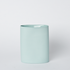 Oval Vase Medium Blue
