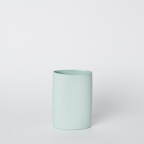 Oval Vase Small Blue