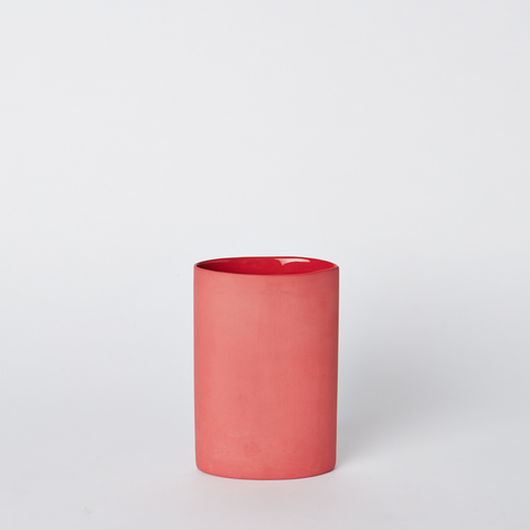 Oval Vase Small Red