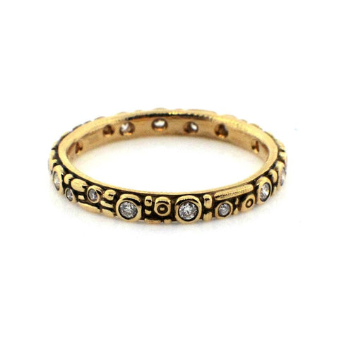"18K Gold Diamond ""Mini 62"" Ring"