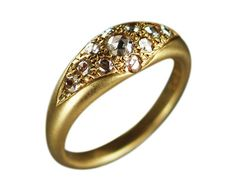 18K Gold Bombay Indian Diamond Ring