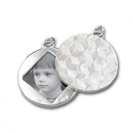 Sterling Silver Honeycomb Pattern Image Case