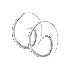 Sterling Silver Small Spiral Hoop Earrings