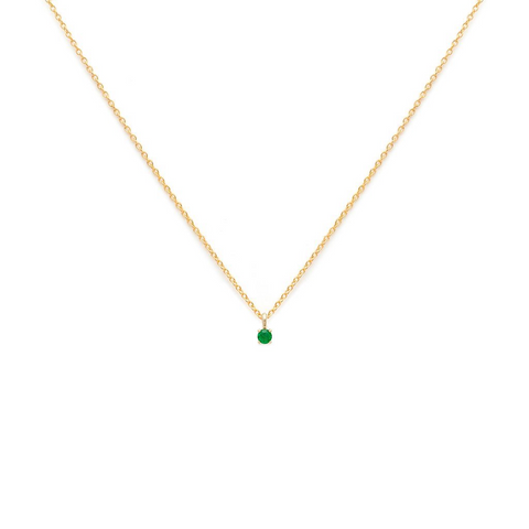 Element - Gold Fill Emerald Necklace