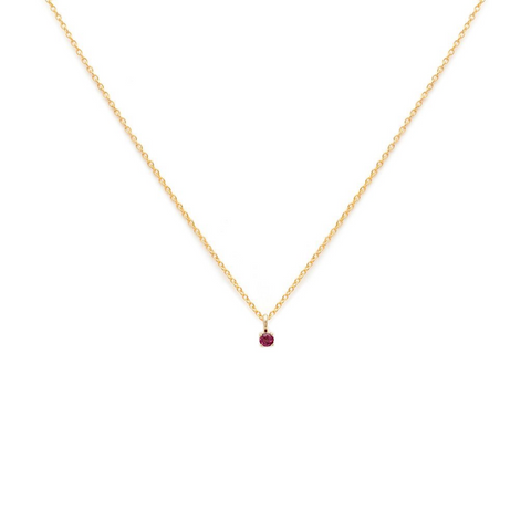 Element - Gold Fill Ruby Necklace
