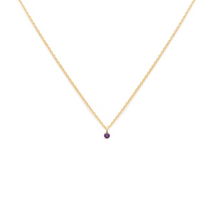 Element - Gold Fill Amethyst Necklace