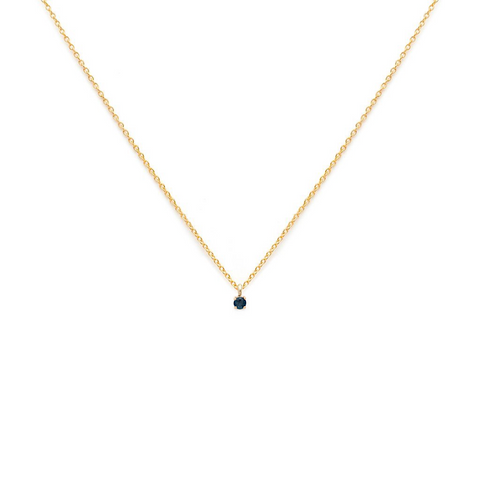 Element - Gold Fill Sapphire Necklace