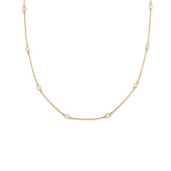 Floatesse - Gold Plate White CZ Necklace