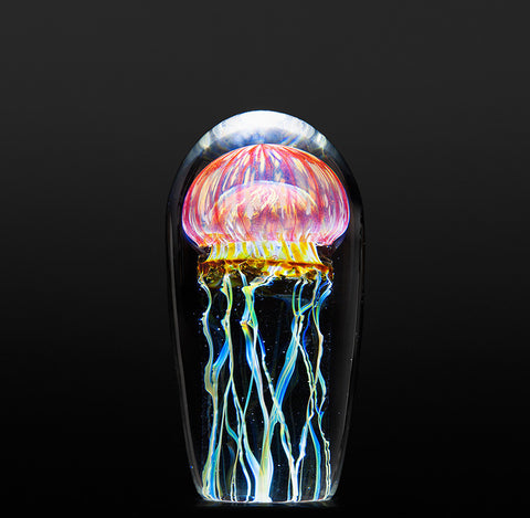 "Gold Ruby Jellyfish 4 - 4.5""H"