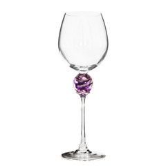 Amethyst Planet Wine Glass