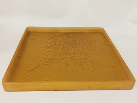 Resin New Gold Square Tray