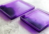 Resin Neon Pruple + Lavender Square Tray, Small