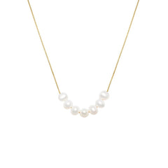 Mini Mer - Gold Fill Pearl Necklace