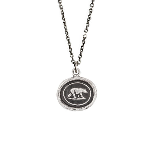 Sterling Silver Mother Bear Talisman Necklace