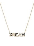 14K Gold & Pave Diamonds, Typewriter Initial 'DREAM' Necklace