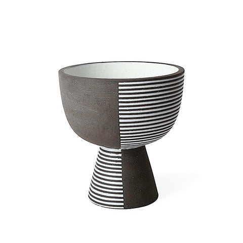 Palm Springs Pedestal Bowl - Stripes
