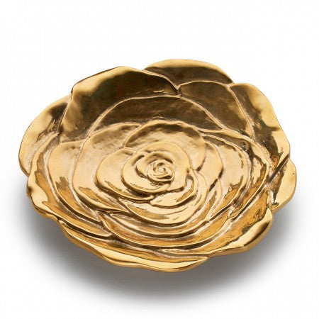 "Brass ""Beauty"" Rose Table Charm"