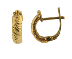 18K Gold Huge Earrings