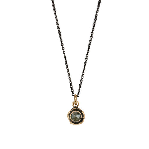 Bronze Labradorite Faceted Stone Talisman Necklace