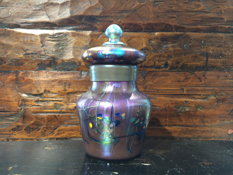 Spots & Stripes, Multi Iridescent Urn
