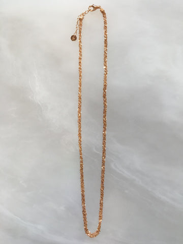 Rose Vermeil Crochet Medium Necklace