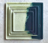 Resin Teal + Moss Square Tray, X-Large