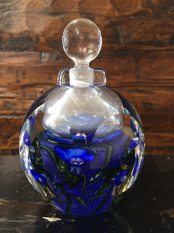 Blue Violet Hexagon Perfume Bottle