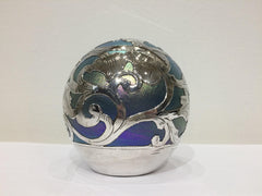 Sterling Silver & Blown Glass Paper Weight