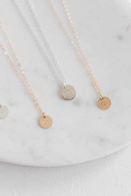 Stamped Disc Necklaces